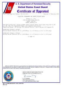 CERTIFICATE OF APPROVAL – U.S.CG; E1-1400331R1