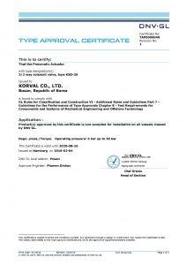 TYPE APPROVAL CERTIFICATE  - GL; KSD-3S