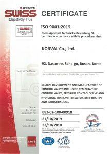 Certification No 082-08-100-00910; ISO 9001:2015 (SWISS APPROVAL)